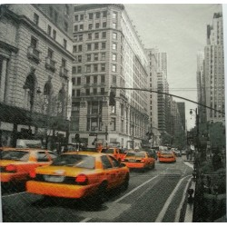 "Serviettes à l'unité ""Taxis à New York"""