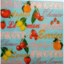 "Serviettes à l'unité ""Fruits"""