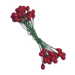 Baies Ilex 6mm - rouge