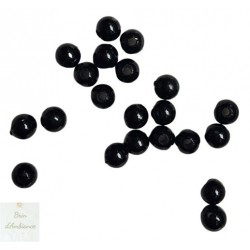 Perles noires - Diam 8mm - Lot de 10