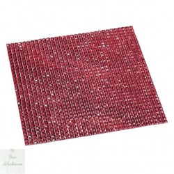 Plaque de strass autocollants rouges