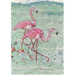 Carte double BUGART - Flamands roses