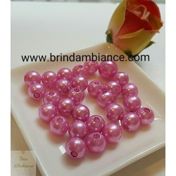 Perles roses - Diam 8mm - Lot de 10