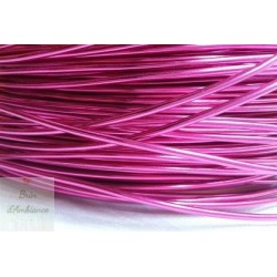 Fil aluminium rose vif 2mm