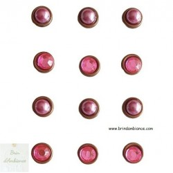 Magnets strass et perles roses