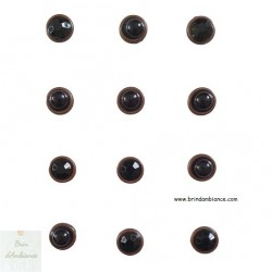 Magnets perles noires