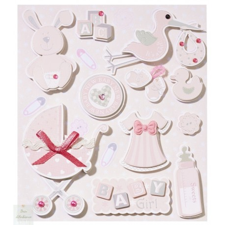 Stickers Naissance fille