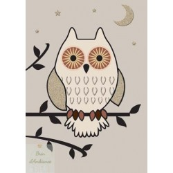 Carte double - Hibou