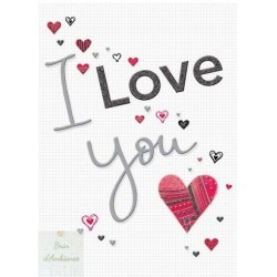"Carte double ""I LOVE YOU"""