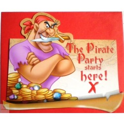 6 Cartons d'invitation Pirates