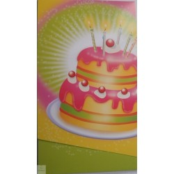 8 Cartons d'invitation Happy birthday